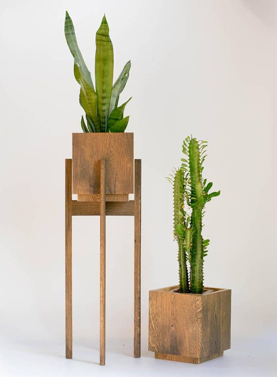 mid century modern plant stand with pot large planter with saucer planter stand with pot. Black Bedroom Furniture Sets. Home Design Ideas