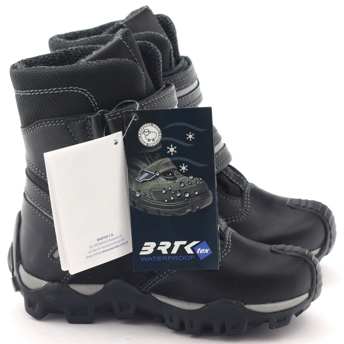 Kozaczki Dla Dzieci Bartek Szare Trzewiki Z Membrana Bartek 94392 Czarne Boots Winter Boot Shoes