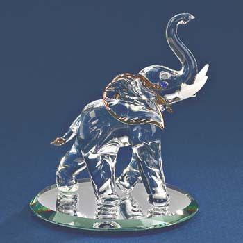 Glass Elephant Figurine By Glass Baron