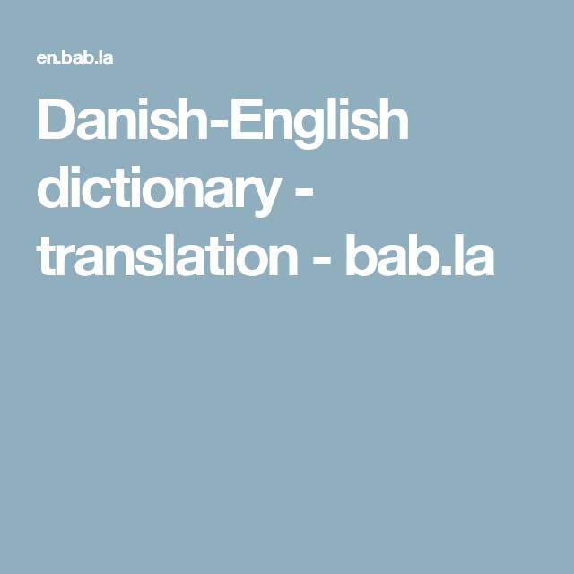 dansk english translation