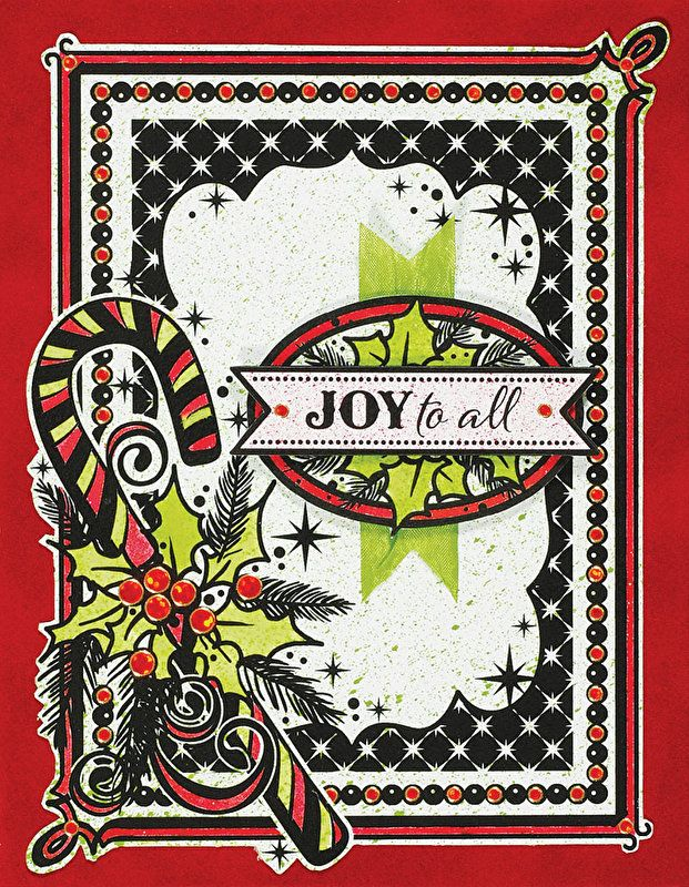 Ebony Color Me™ Christmas Greetings Card Toppers by Hot