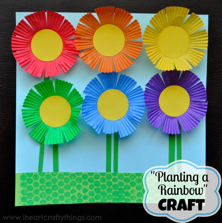 Planting a Rainbow Flower Craft is part of Flower garden Crafts - Planting a Rainbow by Lois Ehlert is one of our favorite Springtime books  Not only do we check it out from our local library every spring but we make a craft to go along with it  This year we made a beautiful rainbow flower garden out of one of my favorite craft materials, cupcake liners  …