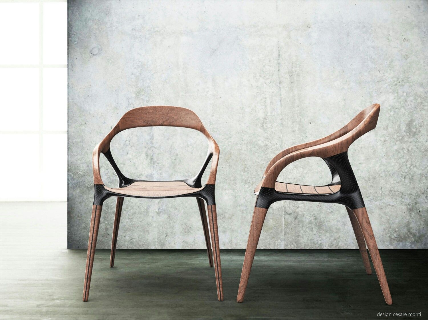 OWAN Carbon Fiber And Wood Chair