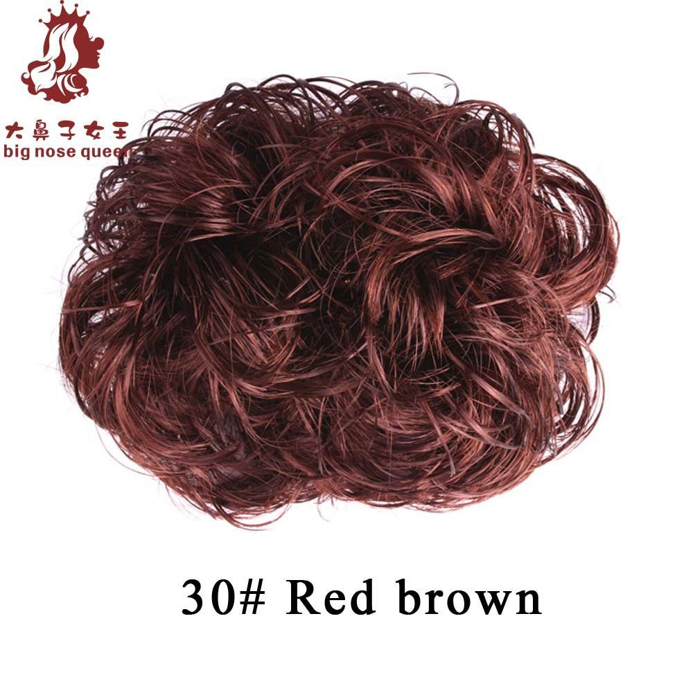 Womenus fashion curly hair bun accessories synthetic donut roller