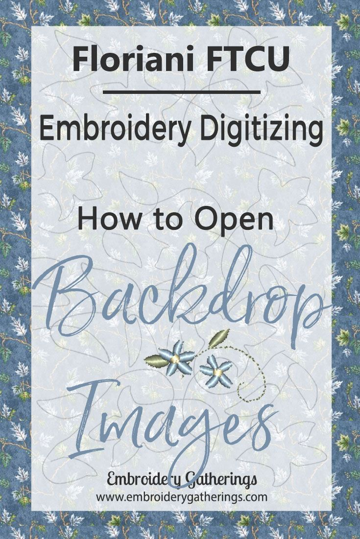 How To Open A Background Image With Floriani Ftcu Embroidery