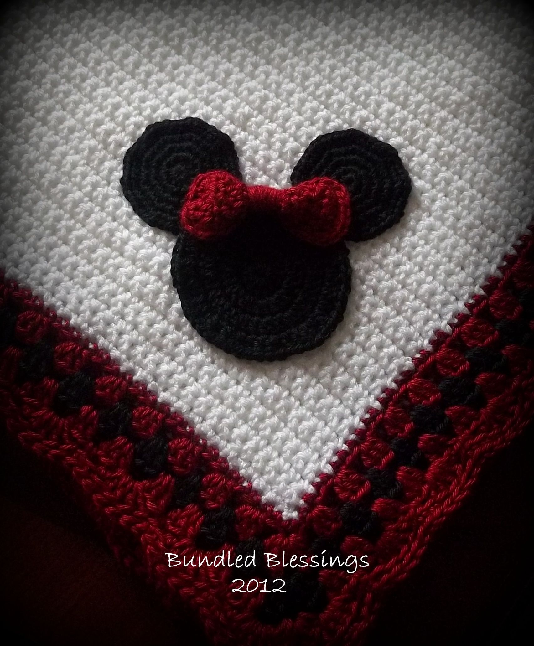 Minnie Mouse motif blanket made by me for a custom order ...