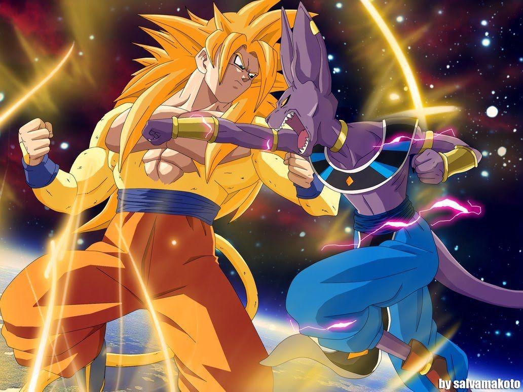 Son Goku Vs Lord Beerus Wallpaper Dragon Ball Z Anime Goku Vs