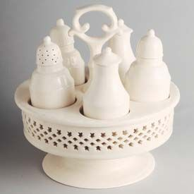 Hartley Greens Leeds Pottery Creamware Cruet Cruet Dinnerware Pottery