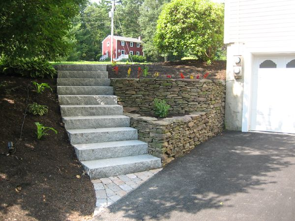 Best Concrete Stairs Yard Outdoor Stairs And Stone Steps For 640 x 480