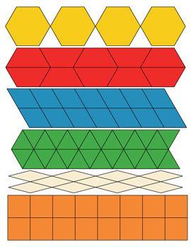 Free Paper Pattern Block Templates Pattern Blocks Pattern Block