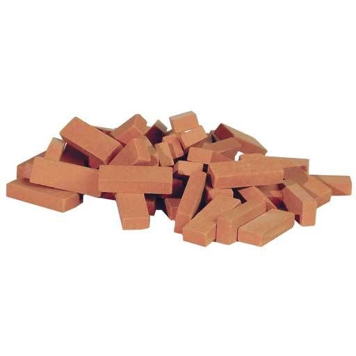 common clay bricks 50pc pkg dollhouse