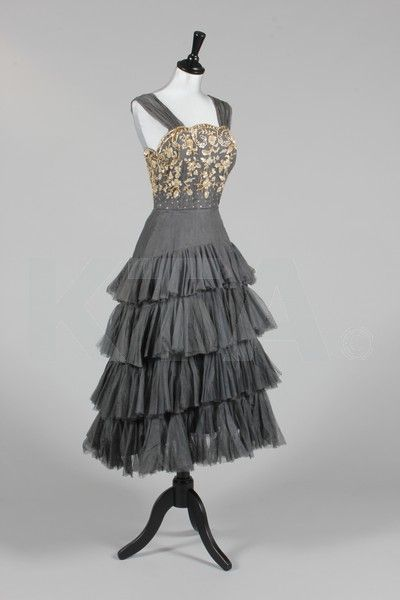1950s cocktail/dance gown