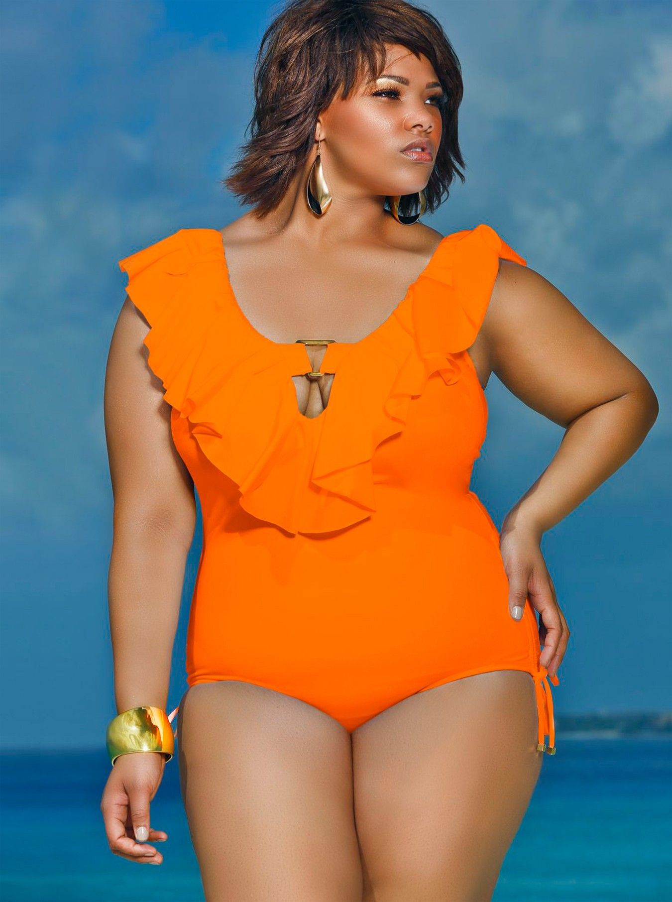 afd544564 Monif C Please Repinm If You Like It.  plussizeswimwear http   swimwear