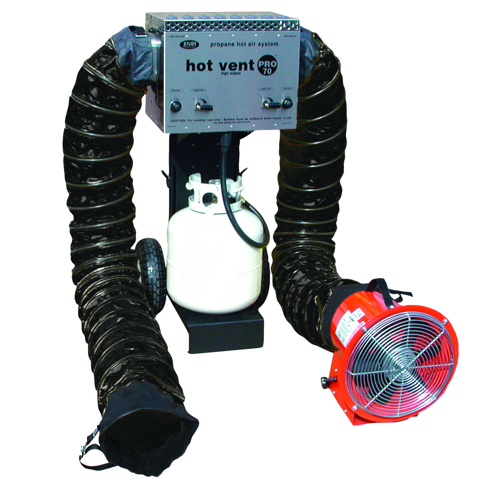 Industries Portable Air Heater 20 lb propane tank