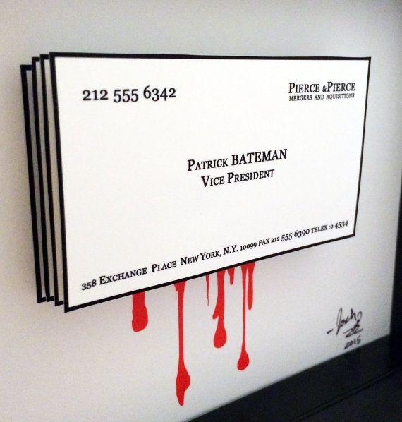 Patrick Bateman Business Card American Psycho Business Card 3d Etsy Business Card Template Business Template American Psycho