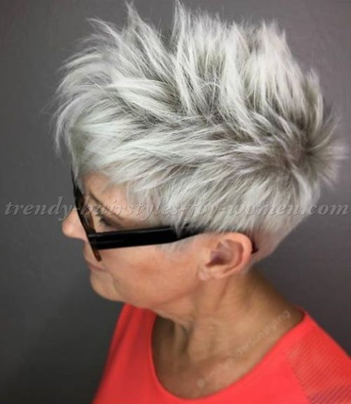Short Hairstyles Over 50 Short Hairstyle For Grey Hair