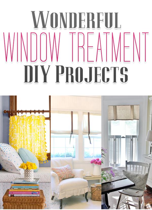 Wonderful DIY Window Treatment Projects