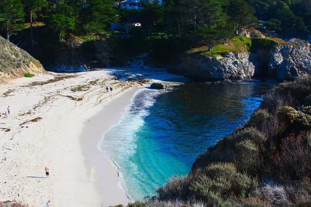 Gibson Beach In California Usa Is A Gorgeous White Sanded Cove With Crystalline Waters West Coast Road Trip California Travel Costa Rica Travel Guide