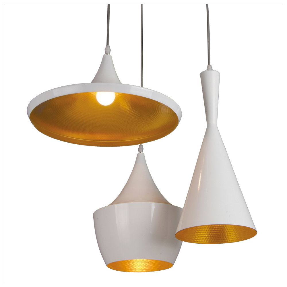 triple pendant lighting. House Wishlist - Dining Room, Triple Pendant Lamp White And Copper, Dwell, Lighting D