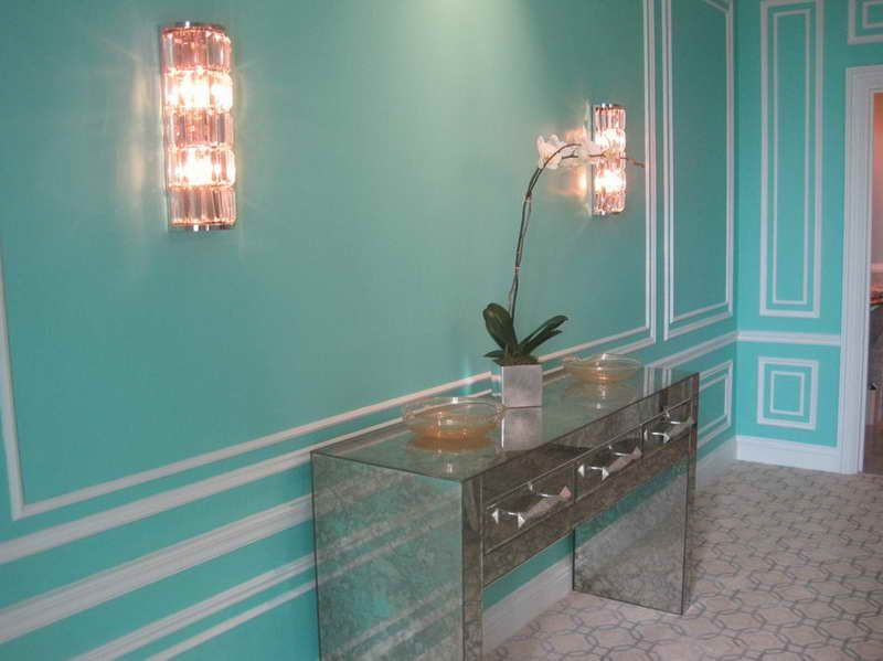 What Color Is the Tiffany Blue for Home Decor with glass cabinet