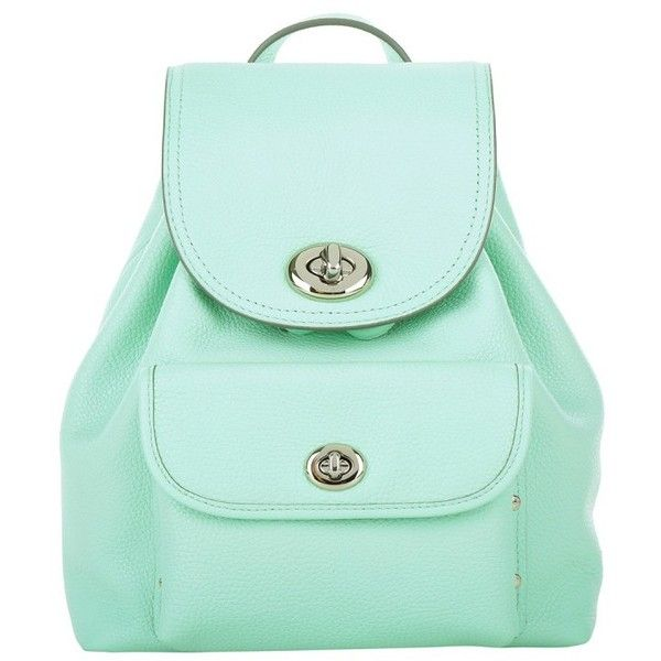 Coach Mini Turnlock Tie Backpack Seaglass in green, Shoulder Bags (£290) ❤ liked on Polyvore featuring bags, backpacks, green, miniature backpack, draw string backpack, drawstring bag, shoulder bag and tie-dye backpacks