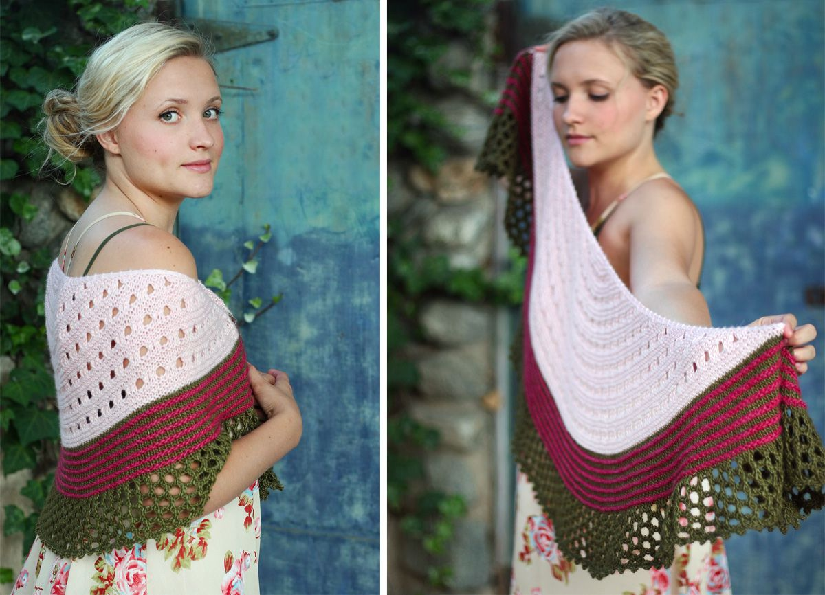 Colorful Shawl Knitting Patterns | Chal y Dos agujas