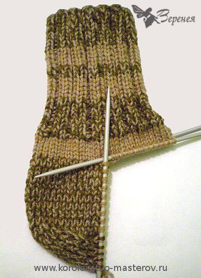 Вязание носков спицами мужчине