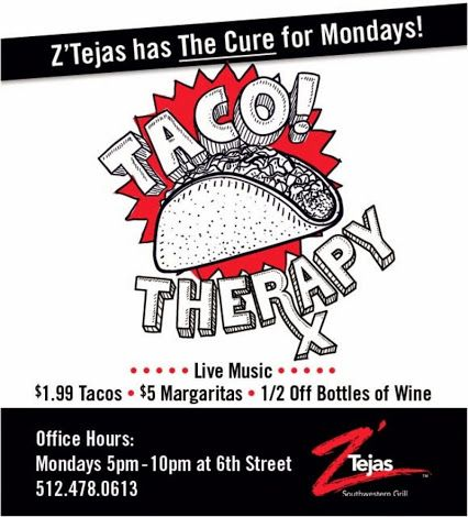 Every Monday Z Tejas 1 99 Tacos 5 Margaritas 1 2 Off Bottle Of Wines Austinhomes Ztejas Berkshire Hathaway Tx Re Wine Bottle Austin Events Berkshire