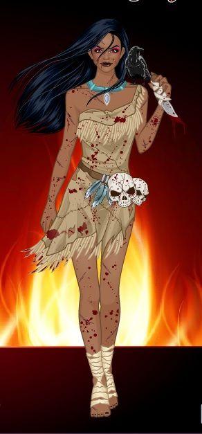 Horror!pocahontas -SommerTime #disney #princess #horror #halloween #SommerTime  sc 1 st  Pinterest & Horror!pocahontas -SommerTime #disney #princess #horror #halloween ...