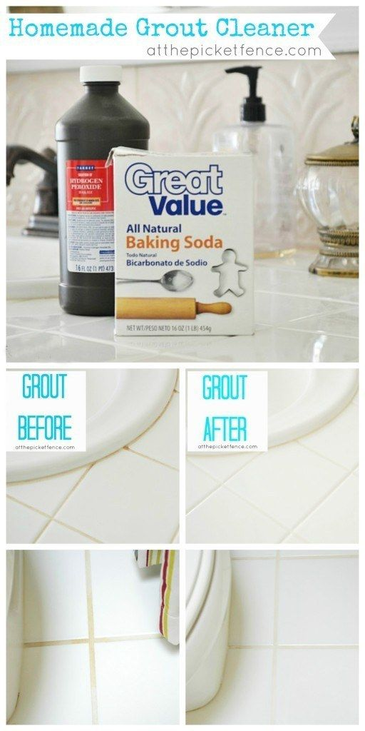 Or If You Prefer Not To Use Bleach Scrub Your Grout With Hydrogen - Baking soda bathroom cleaner