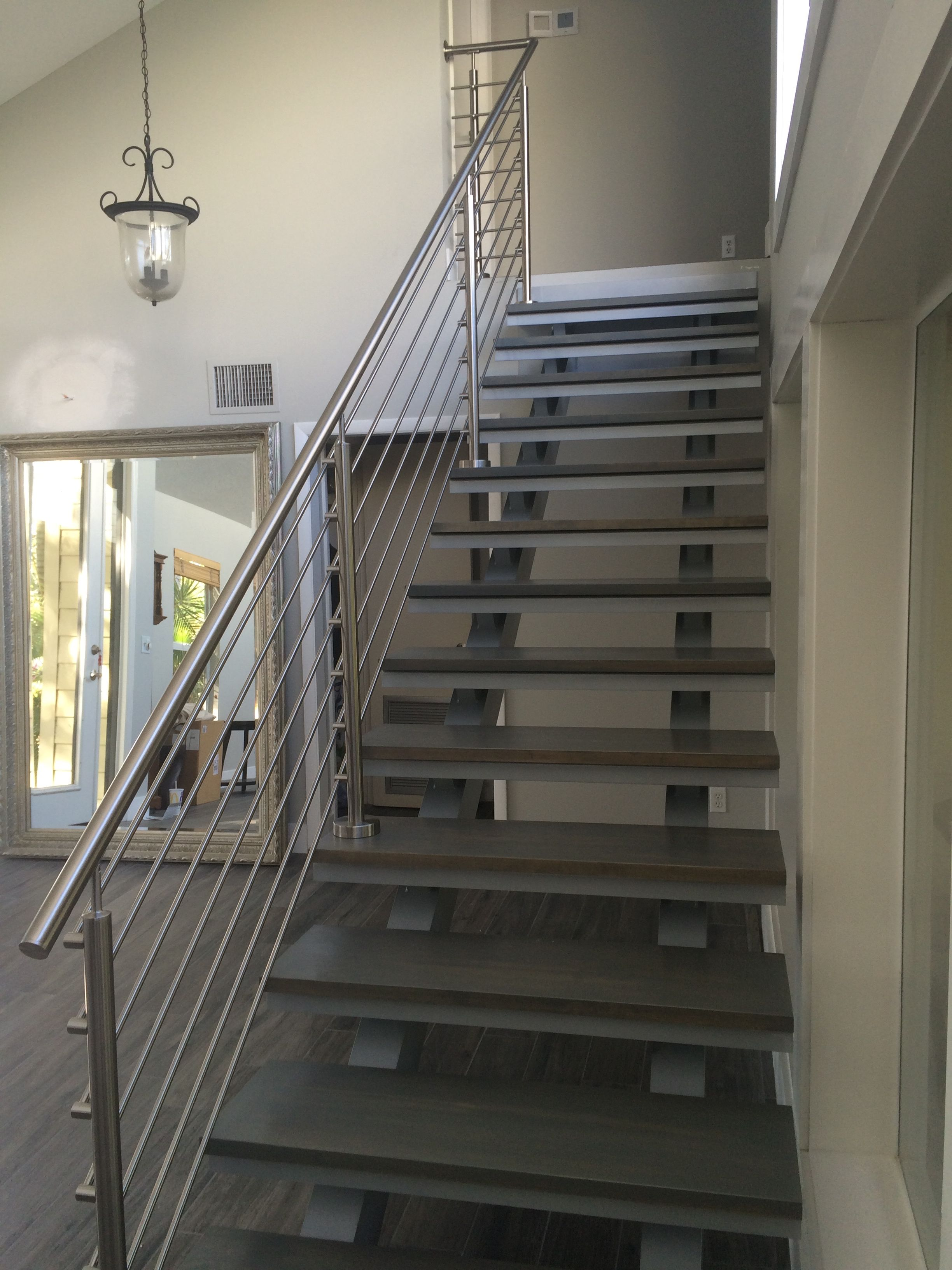 This Floating Straight Stair Is Prime Example Of Our Architectural