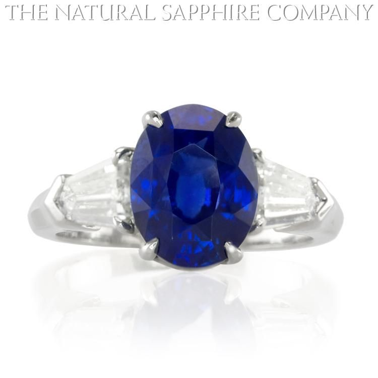 Natural Blue Sapphire Ring Gold Jewelry J3308 Front