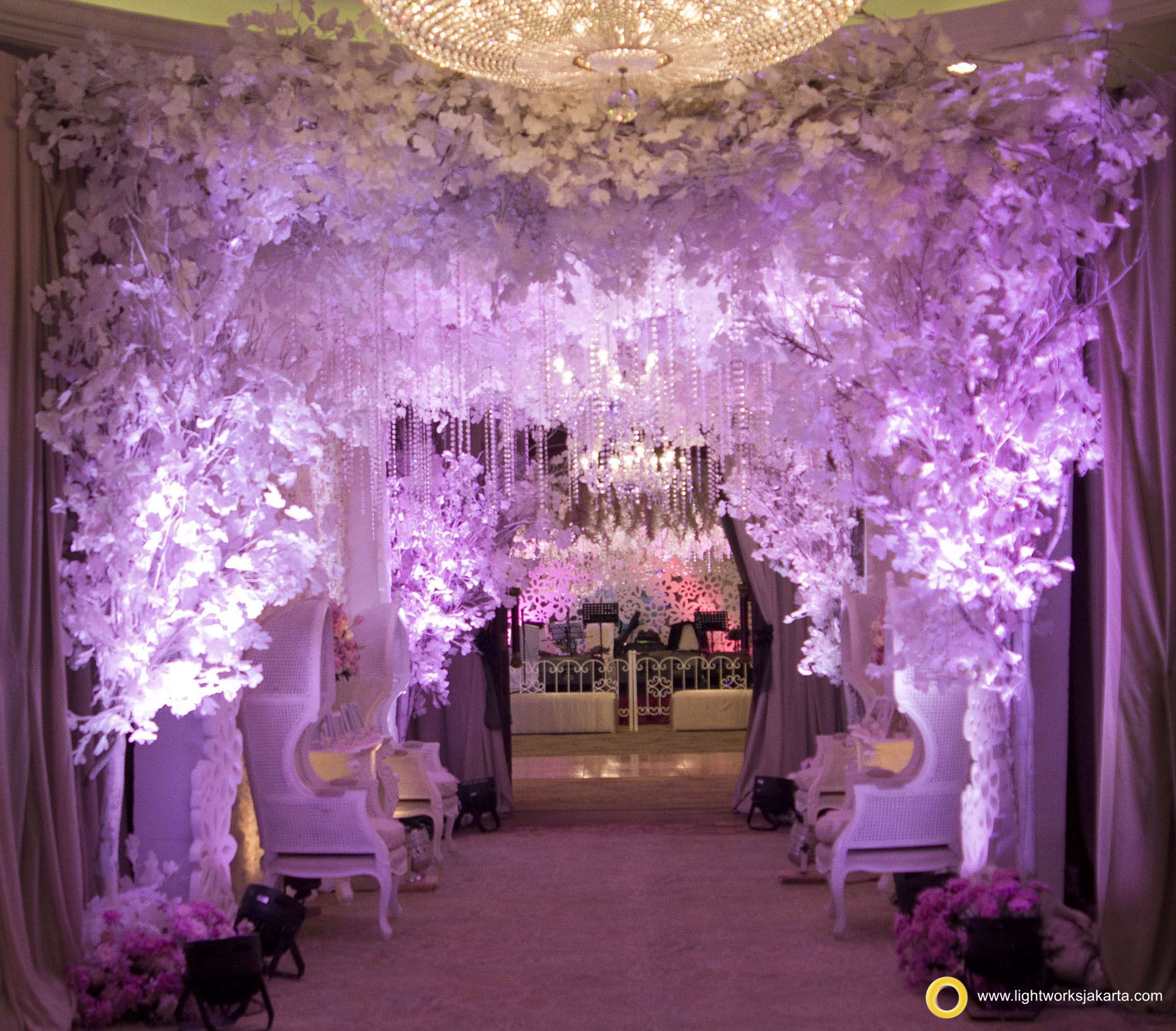 andhika and clara's wedding reception; venue at shangri-la hotel