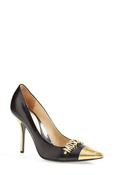 90241e123dd7 Moschino Logo Cap Toe Pump (Women) available at  Nordstrom