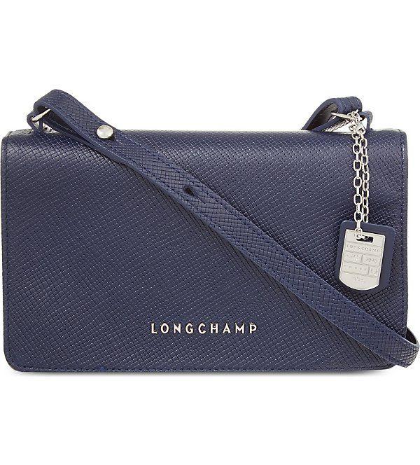 LONGCHAMP Quadri leather cross-body bag (Navy  f1ff44a770e38