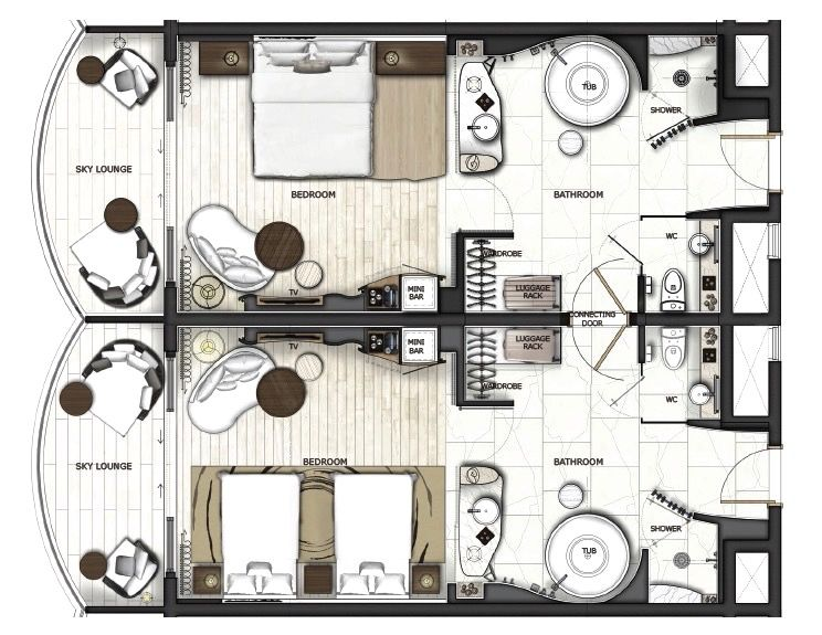 Jw Marriott Danang Resort Main Tower Hotel Room Design Hotel Floor Plan Hotel Room Plan