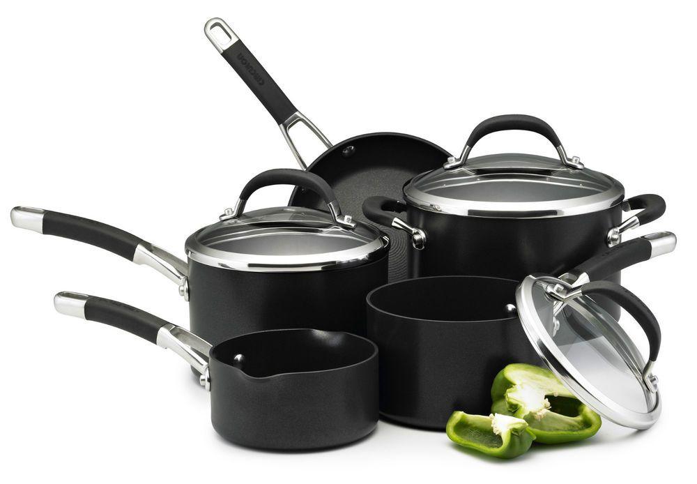 Circulon Cookware Nonstick Pans 5pc Set Pan Pots Hard Saucepan