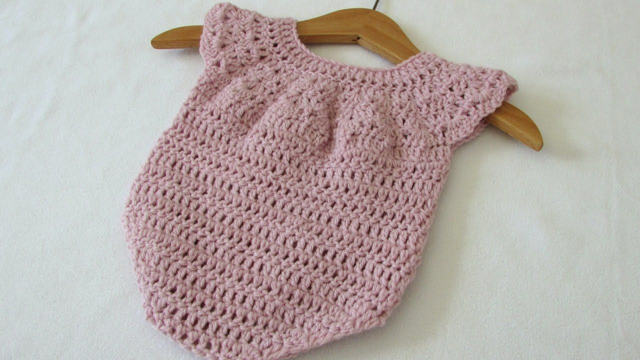 Photo of This tutorial will show you how to crochet an easy baby romper / onesie. This ro…