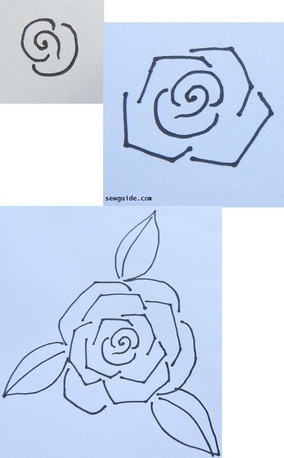 How to draw and paint a ROSE  6 easy designs is part of Rose drawing simple, Tattoo outline drawing, Roses drawing, Art drawings simple, Drawings, Art inspiration drawing - Simple and easy ways to draw and paint rose  with step by step directions
