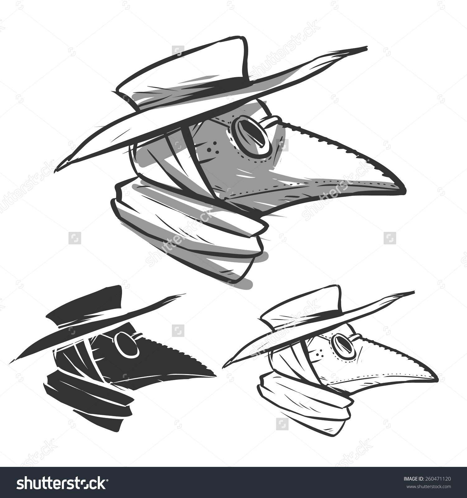 Plague Mask Drawing