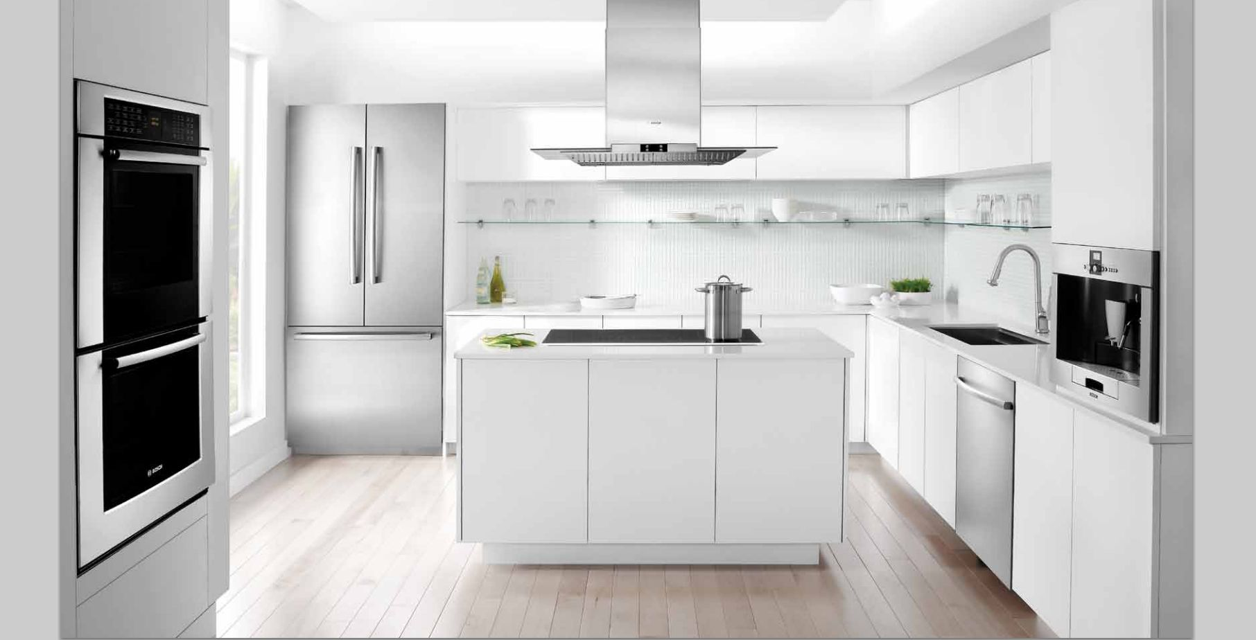 Bosch Built In White Kitchen Design White Modern Kitchen