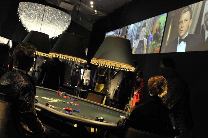 A scene from the James Bond film Casino Royale is seen in the aptly named Casino Room
