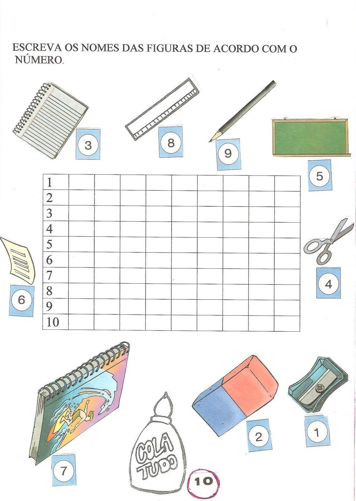 Favoritos lista de material escolar atividades - Pesquisa Google | escola  DL47