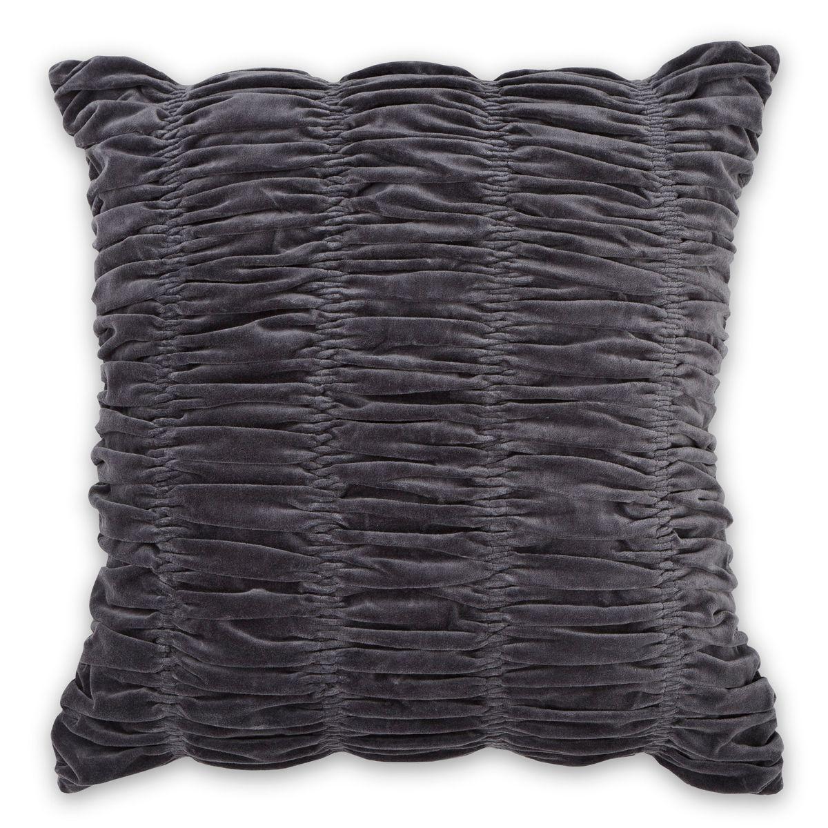 Gorgeous Gathered Velvet cushions in Smoke!