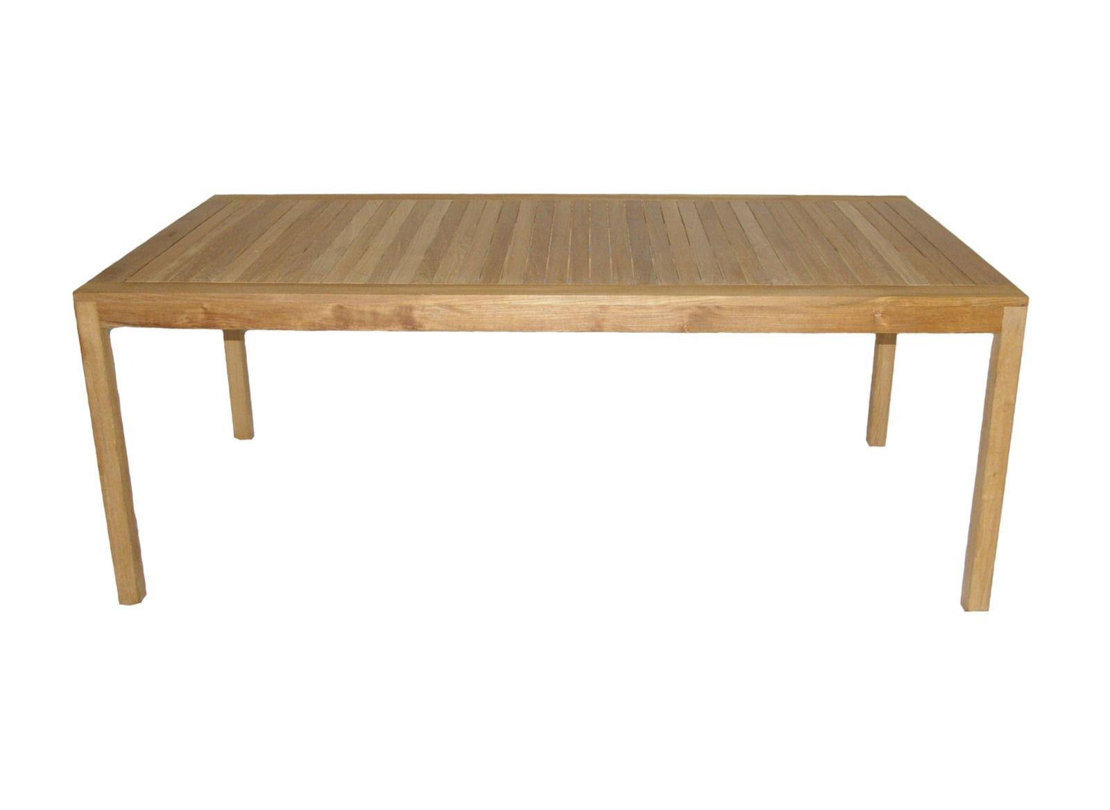 Promotion Table de jardin en teck Vichy 200 x 100 cm - Proloisirs ...