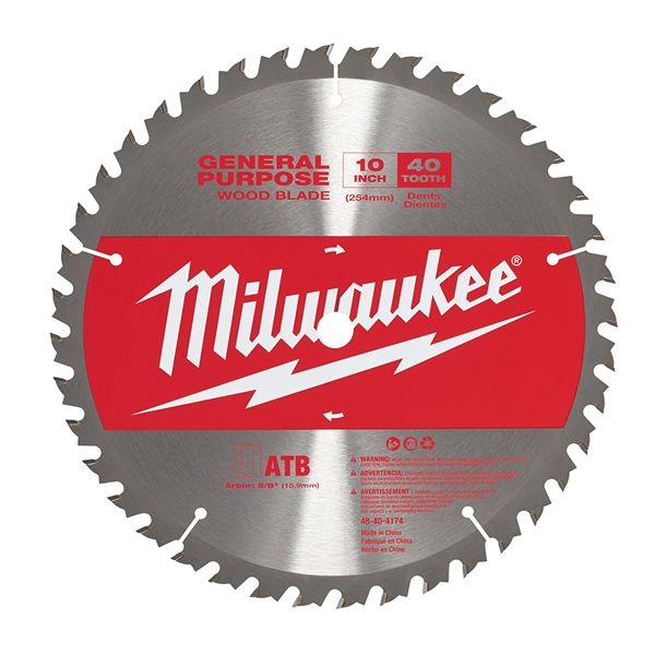 Milwaukee 48 40 4174 10in 40t General Purpose Wood Miter Saw Blade Circular Saw Blades Table Saw Saw Blade