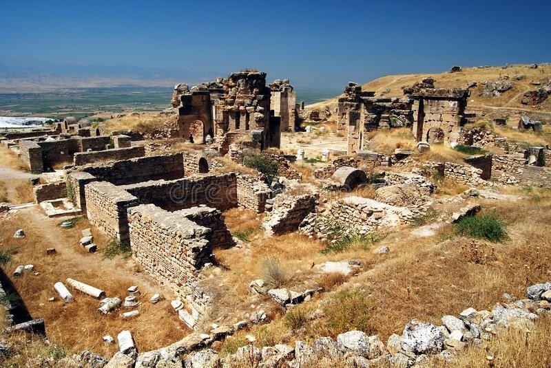 Pamukkale – Hierapolis – Martyrion. Located near modern day Pamukkale, Hierapoli… – natalie