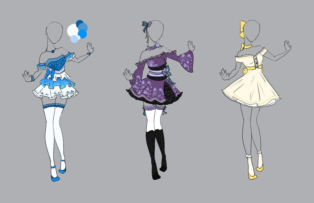 Cute dresses art clothes anime outfits fantasy clothing