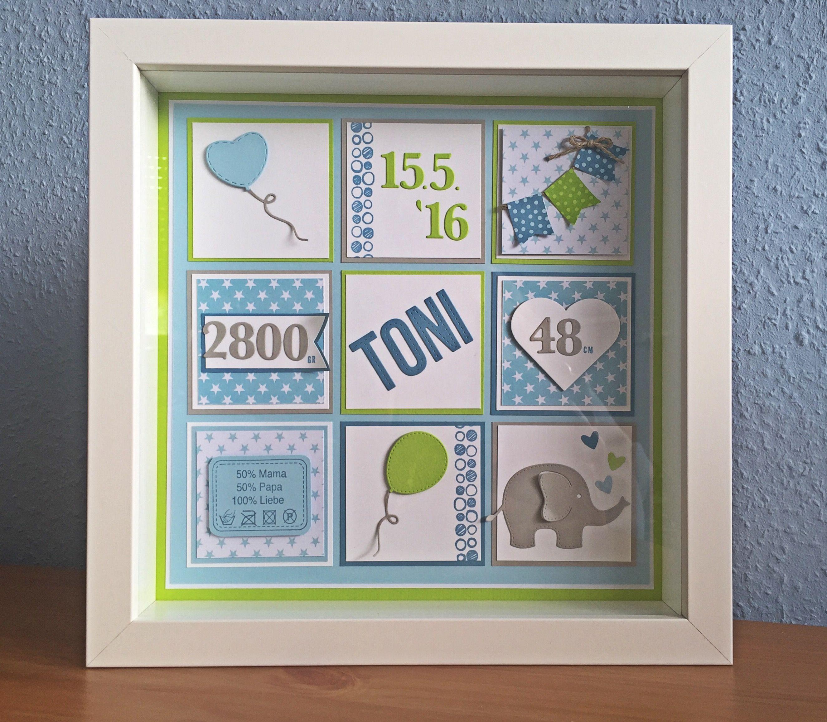 personalisierter ribba rahmen als geschenk zur geburt ikea blau gr n sterne elefant rayher. Black Bedroom Furniture Sets. Home Design Ideas
