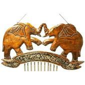 Door chime Wind chime Window chime Wooden elephant Silver St …